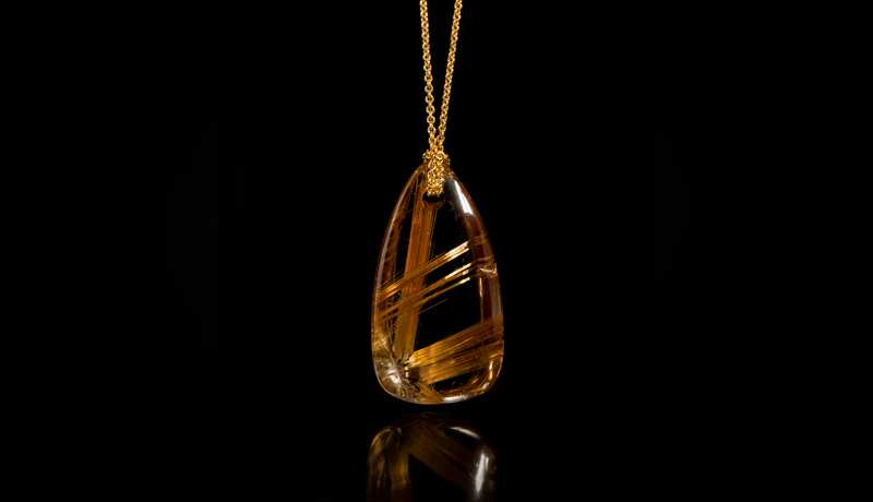 Bahia golden rutilated quartz pendant nature 39 s geometry for Golden rutilated quartz jewelry